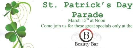 St Patrick S Day Savings On Hair Massage Pedicure